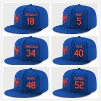 Wholesale Hats Strawberry - Men's adjustable snapback hats Mets Yoenis Darryl Noah Syndergaard Strawberry Cespedes Baseball Caps sports caps