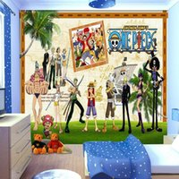 Freies Verschiffen 3D Stereo Benutzerdefinierte Wandmalerei One Piece Themed Restaurant KTV Cartoon Anime Pirate Fliegende Tapeten Wandbild