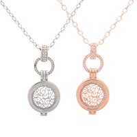 Wholesale Brass Frame Necklace - New Arrival Deluxe My Coin Disc 25MM Coin Holder Frame Pendant Necklace with 80CM Chain as Jewelry Gift for Girl Friend 5Sets lot