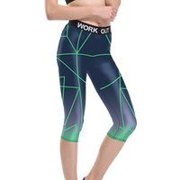 Wholesale One Size Women S Leggings - Women Cropped Yoga Pants Female Print Quick Dry Elastic Tights Gym Workout Running Fitness Spandex Sports Leggings Plus Size 22-24