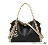Wholesale Leather Skin Lady - 2017 lady designed black shoulder bags genuine leather skin handbags bucket bag for shopping free shipping