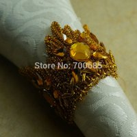 Wholesale Napkin Ring Crown - Wholesale- gold crown napkin ring, crystal crwon napkin holder