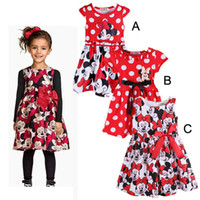 Wholesale Minnie Dress For Kids - New 2016 Children Kids Dresses sleeveless Girl's Dresses Minnie cartoon Vest dress Bow princess dress for kids girls party dresses