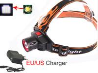 carregador cree q5 venda por atacado-Atacado-zoom Cree Q5 1000lm Farol LED recarregável zoomable Farol 3 Modos de LED Head Light Lamp com bateria ePolymer + carregador