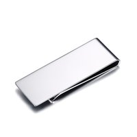 Wholesale Blank Money Clip - SHARDON Blank Money Clip Silver color For men gift made by stainless steel material can custom