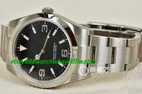 Wholesale Silver Mint Bracelet - Luxury Watches Stainless Steel Bracelet 214270 I MENS WATCH MINT 39MM SS BRACELET RAMDON SERIAL Mechanical MAN WATCH Wristwatch
