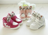 Wholesale Toddler Crystals Shoes - Winter Plush Baby Girls Snow Boots Warm Shoes Pu Leather Flat With Baby Toddler Shoe Outdoor Snow Boots Girls