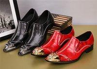 sapato de aço calçado homens venda por atacado-Europa e nos Estados Unidos aumentou vento de couro apontou sapatos masculinos boate passarela steel-toed edição han moda estilista de couro sho