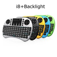 Wholesale Rii Mini Wireless Pc Qwerty - Rii i8+ Mini Wireless QWERTY Gaming Keyboard Touchpad Fly Air Mouse Keyboard Remote Control for PC Tablet Android Tv Box X360 PS3