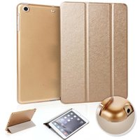 Wholesale Screen Protector Ipad3 - Smart cover cases for ipad 2 3 4 mini air2 pro slim luxury PC leather fold protector case dormancy awaken case colorful silk pattern GSZ327