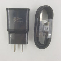 galaxie wand ladegerät original großhandel-Original OEM US / EU Stecker Schnelllade-ladegerät Adapter + 1,2 mt USB Typ-C Daten Ladekabel Für Samsung Galaxy S8 S8 Plus