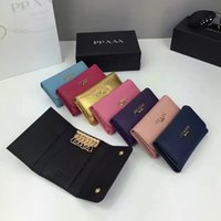 Wholesale Imported Photos - Multiple colors optional brand mini wallet original imported Really leather cross pattern fashion wallet key bag best quality