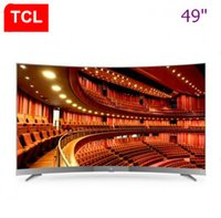 Wholesale Super 55 - TCL 49 inch 32-core artificial intelligence HDR Curved surface ultra-thin 4K TV super high-definition hot new TV free shipping