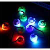 Wholesale LED Fluorescent Thumb Chucks with Exchangable Balls Massager Toys Control Roll Game Finger Yo Yo Ball EDC Fidget Toys Novelty Toys PVC bag