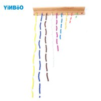 Wholesale Colored Wooden Beads Wholesale - Wholesale- Montessori Educational Wooden Toys For Children Colored Beads Chain Wood Early Childhood Education Preschool Training Learning