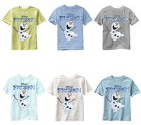 Wholesale Character T Shirts For Girl - Kids 6colors Frozen figures printing T shirt Olaf Sven print short sleeve T shirt summer outfits for 3-7T boys girls