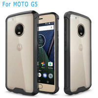 Wholesale accessories for galaxy online – custom For Motorola moto G5 PLUS MOTO G4 PLUS G4 PLAY galaxy J7 prime Armor case Clear Hybrid Bumper Shockproof Back Cover Phone Accessories