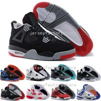 2017 Cheap New Retro 4 4s Chaussures de basket-ball pour hommes Fire Red White Cement CAVS Militaire Blue Cement Gray Black Sneakers Athletics shoes US 8-13