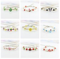 Wholesale Cartoon Sweet Couple - High quality Cute female cartoon couple sisters bracelet simple sweet jewelery FB108 mix order 20 pieces a lot Charm Bracelets
