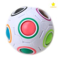 Wholesale Education Toys For Kids - Magic Cube Ball Spherical Rainbow Ball Football Cube Speed Puzzle Children's Education Learniing Toys for Kids Child