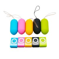 Colorful Portable Wireless Waterproof MP3 Vibrators, Controle Remoto Mulheres Body Massager Vibrator Sex Toys 17402