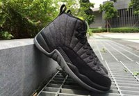 Wholesale Premium French - 2017 Retro 12 ovo jumpman Premium Deep Royal Blue Suede 12s Wool Black Nylon Gym red French Gamma Blue Bronze Taxi Sneakers