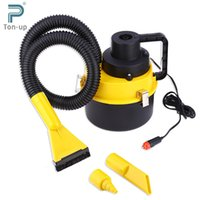 Atacado-12V Portable Handheld Car Aspirador de Ar Grande Capacidade Inflation Três Sucker Dust Cleaner Coletor Coletor 3M Cabo