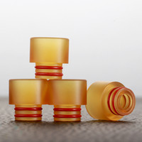 Wholesale Raw Materials - Newest 510 PEI Drip Tips PEI Plastic Raw Material Wide Bore Drip Tips MouthPiece Fit 510 Atomizers E Cig DHL Free