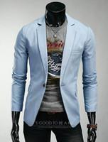 Wholesale Mens Shiny Slim Fit Suit - Plus Size Mens Blazers Coats Suit Jackets Personalize Slim Fit Long Sleeve Men Single Breasted Nightclub Shiny Suit Blazer For Men J160205