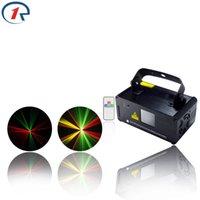 Wholesale Disco Scanner Lights - Wholesale- ZjRight IR Remote Red Green Yellow Laser Stage Light DMX512 Scanner beam effect dj laser light Vocal concert Bar KTV disco light