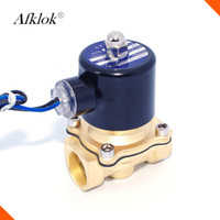 "Wholesale 24v Oil Solenoid - Brass direct acting diaphragm G thread normally closed 1 2"" 3 4"" 1"" AC220V 110V 24V water gas oil solenoid valve"