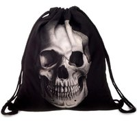 Wholesale gift bags dhl shipping online - Fashion Women Backpacks D Printing Bags Drawstring Bag For Men Birthday gift Christmas gift DHL free ship