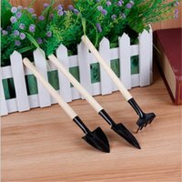 Wholesale DHL Garden Tools Kids Mini Tool Set Mini Garden Tools Small Shovel Rake Spade Wood Handle Metal Head Kids Tool Gift