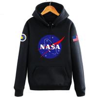 nasa neu großhandel-NASA Mars Rescue hoodies für männer herbst brief drucken langarm hoodies männer mode neue flut hip hop amerika männer hoodies kostenloser versand