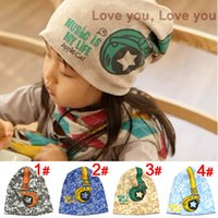 Wholesale Crochet Hat Headphone - Hot Sale New 2015 Spring Baby Kid Infant Sanded Cotton Headset Print Cap Children Beanie Headphone Hats Kid's Accessories