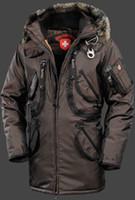 Wholesale Navy Winter Hats - 2018 Wholesale Price New Arrival Men's Wellensteyn long Rescue Navy Coffee Black short Winter Jacket fur hood down coat jacket free shipping