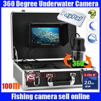 Wholesale Camera Control Box Dvr - 100m 360 Degree View Remote Control SONY CCD Underwater Fishing DVR recorder Camera with 7 Inch LCD moniot box underwater fish camera