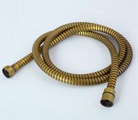 душевые кабины оптовых-Античное золото черный бронза хром шифрование трубки взрывозащищенные двойные пряжки 1.5 м душ выдвижной сантехника шланг тянуть draw-tube