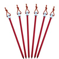 Wholesale Large Tents For Camping - Tent Peg Stake Aluminium Alloy Nails With Rope For Large Tent Camping Equipment Outdoor Tent Accessories 23 cm 001