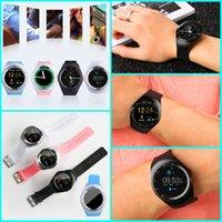 nano saatler toptan satış-Y1 Akıllı Saatler Yuvarlak Wrisbrand Destek Nano SIM TF Kart Ile Whatsapp Facebook spor IOS Apple Android Için Iş Smartwatch
