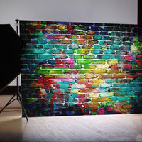 Wholesale 7x5FT brick wall silk photography Backdrop Background studio prop