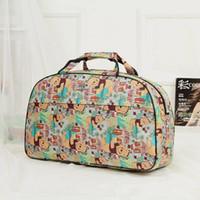 Wholesale Dots Luggage - Fashion Women's Travel Bags Luggage Handbag Floral Print Women Travel Tote Bags Large Capacity ZDD5136