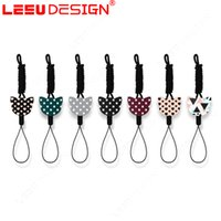 Cartoon Lovely Phone Lanyard Straps Fashion Cell Phone Charms Colorido Cute Neck ID Cards Mobile Chain 100pcs
