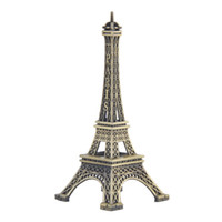 Wholesale bronze souvenirs - Home Desk Decoration 8 15cm Paris Eiffel Tower Figurine Statue Vintage Model Art Crafts Creative Gifts Souvenir Bronze Paris Eiffel Tower