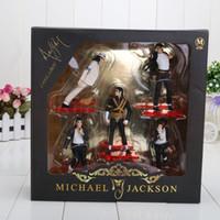 Wholesale Action Jackson - 5pcs set Michael Jackson PVC Action Figure Collection Model Toy 12cm New in Retail Box Toys