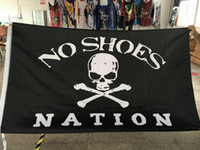Wholesale Custom Designed Shoes - Nation No Shoes Custom Flag Flying Design 3x5 ft 100D Polyester Banners with Two Metal Grommets