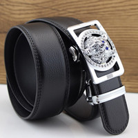 Wholesale Wholesale Designer Mens Belts - Wholesale- Wolf Designers Luxury Cowhide Brand Genuine Leather Automatic Buckle Belts for Mens High Quality Male Cowskin Ceinture Homme