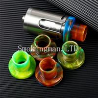 Wholesale Exo Caps - DHL Epoxy Resin Cleito EXO Drip Cap for Cleito EXO Tank Mouthpieces Drip Tips Colorful Resin Holder Cover E Cigarette VS Cleito 120 tips