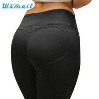 Wholesale Heart Design Leggings - Wholesale- Womail Newly Design Sexy Hip Lift Heart Pant Women Elastic Fitness Leggings 161201 Drop Shipping