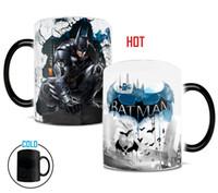 Wholesale Tea Light Change - Batman Dark Knight mug Light Magic color changing mug coffee tea cup batman fan Mug for best friend gift